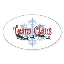 Team Claus Oval Decal