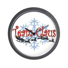 Team Claus Wall Clock