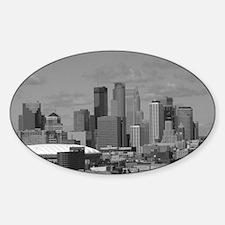 Minneapolis Skyline Oval Decal