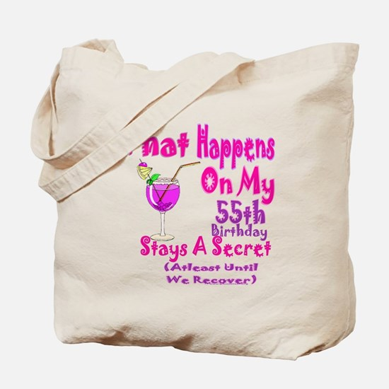 What happens on my 55th Birth Tote Bag