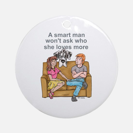 NH Smart Man Ornament (Round)