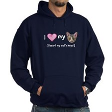 Heart my Cat's Head Hoodie