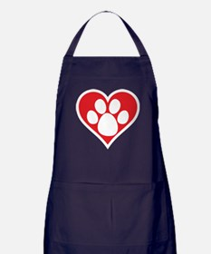 Heart Dog Paw Apron (dark)