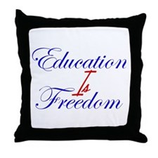 Education Is Freedom Throw Pillow