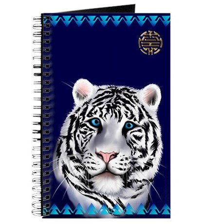 White Tiger Face Journal
