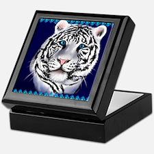 White Tiger Face Keepsake Box
