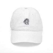 White Tiger Face Baseball Cap