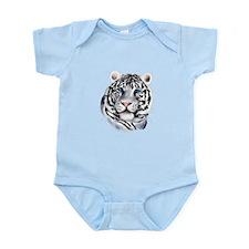 White Tiger Face Infant Bodysuit