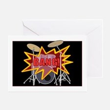 Bang Drumset! Greeting Card