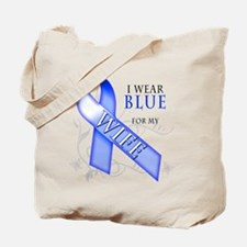 I Wear Blue for my Wife Tote Bag
