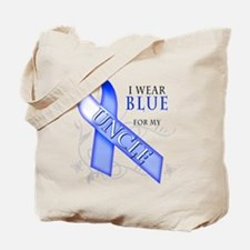 I Wear Blue for my Uncle Tote Bag