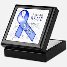 I Wear Blue for my Son Keepsake Box
