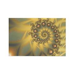 Golden Fiddle Fractal Rectangle Magnet (100 pack)