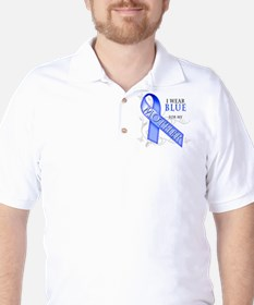 I Wear Blue for my Mother Golf Shirt