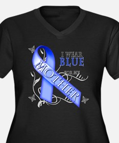 I Wear Blue for my Mother Women's Plus Size V-Neck