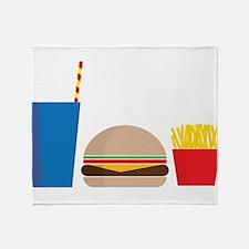 Fast Food Meal Throw Blanket