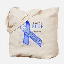 I Wear Blue for my Husband Tote Bag