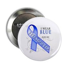 "I Wear Blue for my Husband 2.25"" Button"
