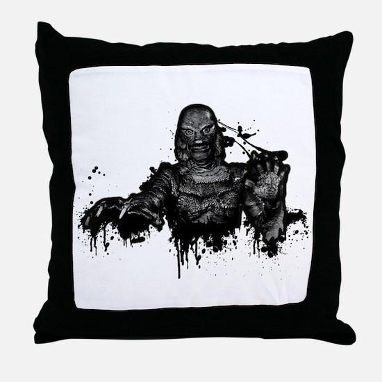 Graffiti'd Pop Culture Throw Pillow