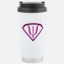 Superhero Psychologist Pink Travel Mug