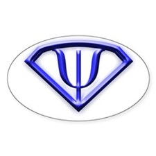 Superhero Psychologist Blue Oval Decal