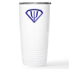 Superhero Psychologist Blue Travel Mug