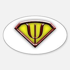 Superhero Psychologist Oval Decal