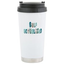 Self-Actualized (floral green Travel Mug