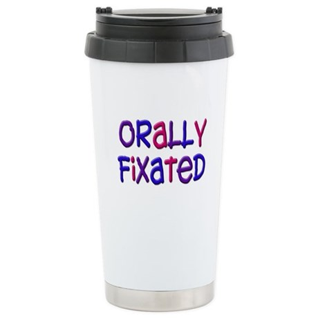 Orally Fixated (bright) Stainless Steel Travel Mug