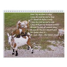 I Love Nigerian Dwarf Goats Wall Calendar