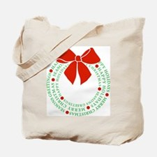 Happy Holidays Wreath Tote Bag