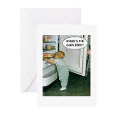 Where's The Damn Beer Greeting Cards (Pk of 10)
