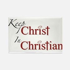Keep Christ Rectangle Magnet