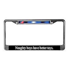 Naughty Boys License Plate Frame