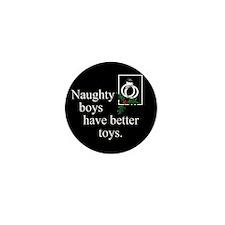 Naughty Boys Mini Button