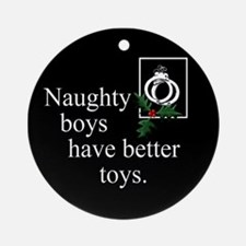 Naughty Boys Ornament (Round)