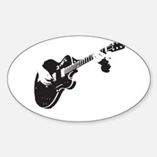 Guitar Oval Decal