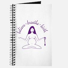 Believe Breathe Birth Pregnancy Journal