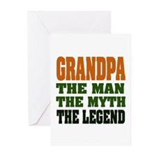 Grandpa - The Legend Greeting Cards (Pk of 20)