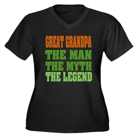 Great Grandpa - The Legend Women's Plus Size V-Nec