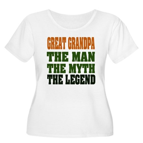 Great Grandpa - The Legend Women's Plus Size Scoop