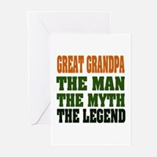 Great Grandpa - The Legend Greeting Cards (Pk of 2