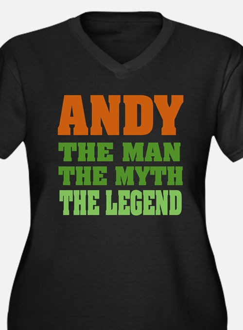 ANDY - The Legend Women's Plus Size V-Neck Dark T-