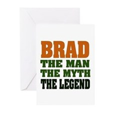 BRAD - the legend Greeting Cards (Pk of 20)
