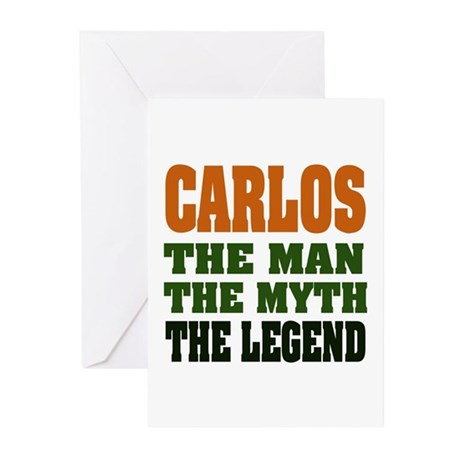 CARLOS - The Legend Greeting Cards (Pk of 20)
