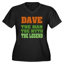 DAVE - The Legend Women's Plus Size V-Neck Dark T-