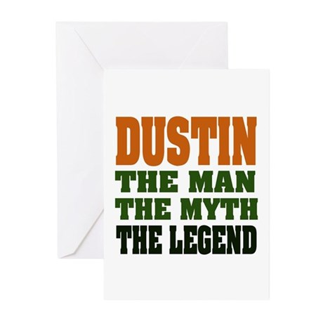 DUSTIN - the legend Greeting Cards (Pk of 20)
