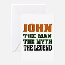 JOHN - The Legend Greeting Cards (Pk of 20)