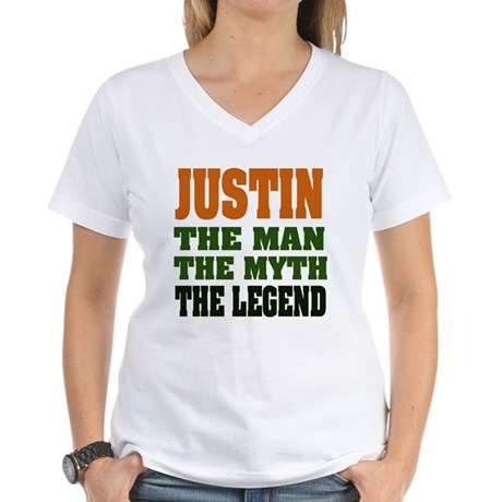 JUSTIN - The Legend Women's V-Neck T-Shirt