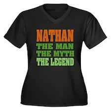 NATHAN - the legend! Women's Plus Size V-Neck Dark